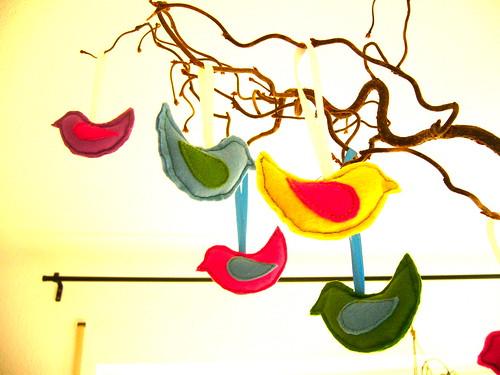 felted birdies.