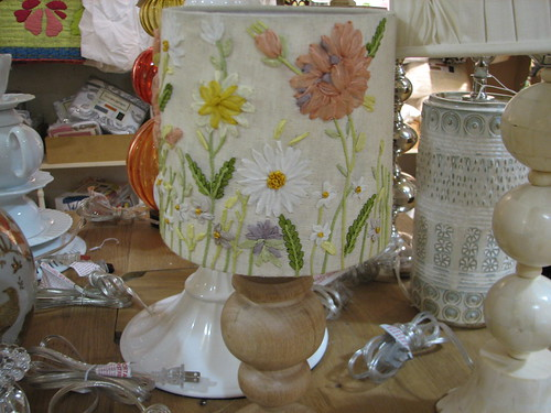 silk embroidered lampshade