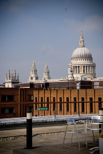 St Paul's Cathedral from Rabobank terrace