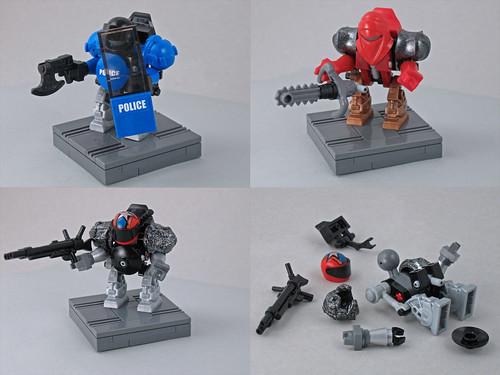 custom robot minifig