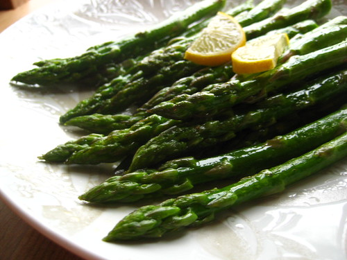 asparagus on a rainy day. hello, spring.