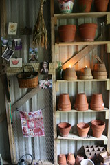 Inspiration (milkmaid1979) Tags: basket flag inspire claypots chickenwire gardenshed pottingshed driedflowers gardenclutter