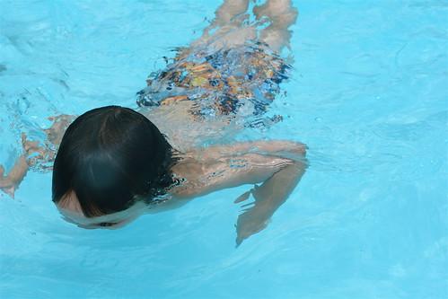 He Swims!