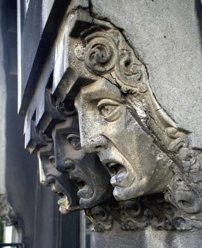 Cariatides de la façade de la Confiteria del Molino de Buenos Aires
