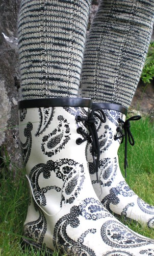 Zebra legwarmers and wellies