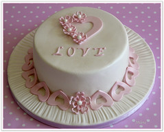 wedding day cake (Milena ) Tags: cake hearts coconut weddingday lemoncurd fondant milen