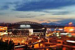 1st DSLR picture, Safeco Field (David M Hogan) Tags: sunset field night lensbaby nikon safeco rizal dogpark composer davidhogan d5000
