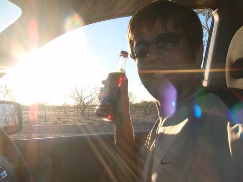 Con Coca Cola en el Outback