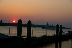 Sunset 2 (Karen_O'D) Tags: sunset sky ferry liverpool evening canal terminal development pierhead merseyside