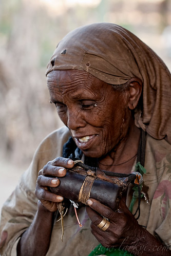Woman and Scroll, Axum, Tigray, Ethiopia, May 2009