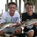 FISHING IN BILOXI, MISSISSIPPI - Blake & Brandon Connor pose with a couple of fine speckled trout they caught fishing aboard TEAM BRODIE CHARTERS - Photo by Capt. Robert L. Brodie