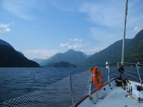 Sailboat Trip up Indian Arm