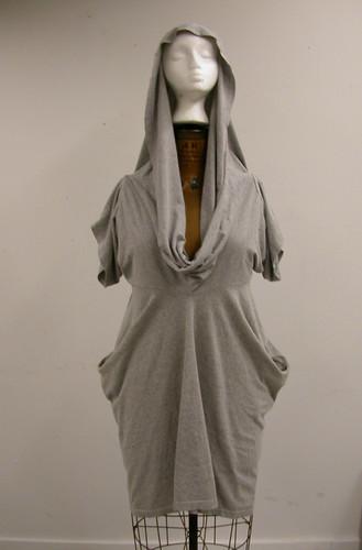 Double T-Shirt Dress - Grey 006