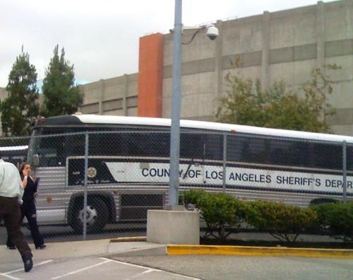LASD Prisoner Bus at Mens Central Jail