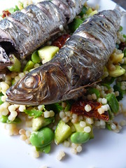 Sardines with Fregola Sarda Salad