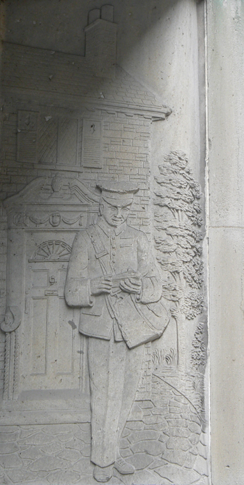 Mail Carrier, former Postal Delivery Building, Toronto