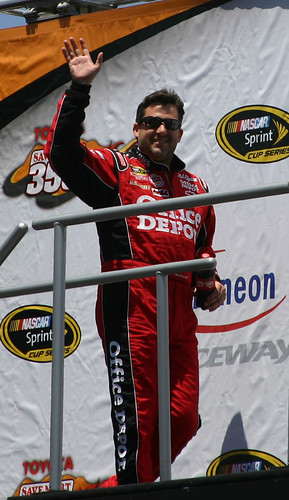 Tony Stewart at driver introductions at Infineon Raceway. Photo Credit: ME