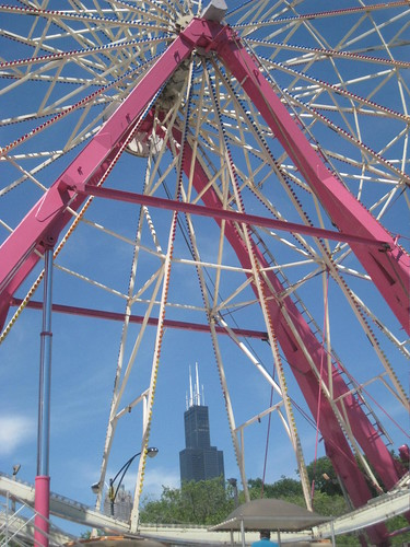 Sears Tower through the ferris wheel