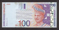 RM100 stacks (Tim & Chrissie Home) Tags: ringgit rm100