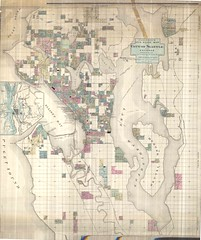 Anderson's New Guide Map of the City of Seattle and Environs, 1890
