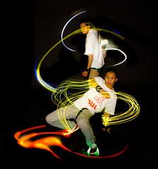 Bboy Lights (Ben Canales) Tags: longexposure light lightpainting portland lights dance neon glow dancer breakdance breakdancing bboy breakdancer bgirl strobist bencanales