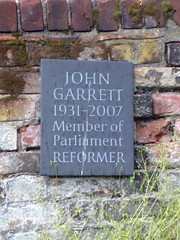 Photo of John Garrett stone plaque