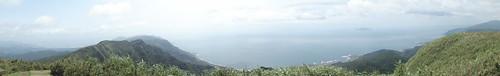 於灣坑頭山用Sony DSC-WX1所拍攝的全景照