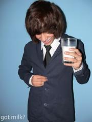 got milk? (CassiePsyche) Tags: blue brown black glass smile hair milk brandon tie moustache suit got bloomingdales backround