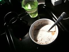 Frukost 17/5 (Atomeyes) Tags: fil mat vatten kaffe frukost vitamin kanel msli