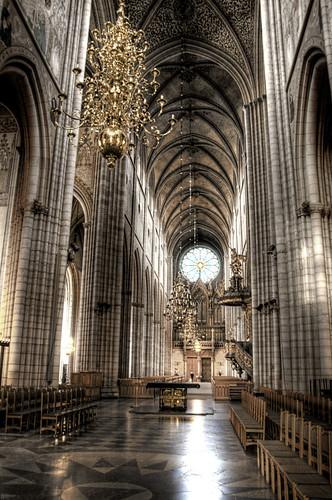 Catedral de Uppsala. Nave central
