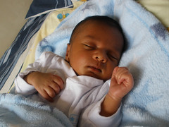 Baby H, 9 days old =) (Friends' baby)