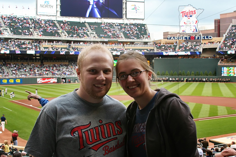 Patrick and I at Target Field