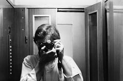 Selfportrait (Marco Verdesi) Tags: portrait italy selfportrait rome roma self 50mm italia io explore 400 marco frontpage ilford yashica fx3 verdesi