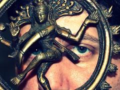 aureole of flames (eric journey) Tags: selfportrait me statue self religion belief philosophy shiva hindu nataraja siva deity regeneration thedestroyerofworlds sculpturalsymbol