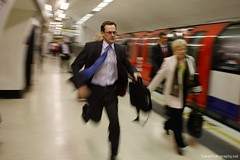 Tuesday 16:09 , London EC3 (Zbigniew Osiowy) Tags: street uk london businessman project moblog underground subway photography metro tube streetphotography cityboy tubephotography zbigniewosiowy