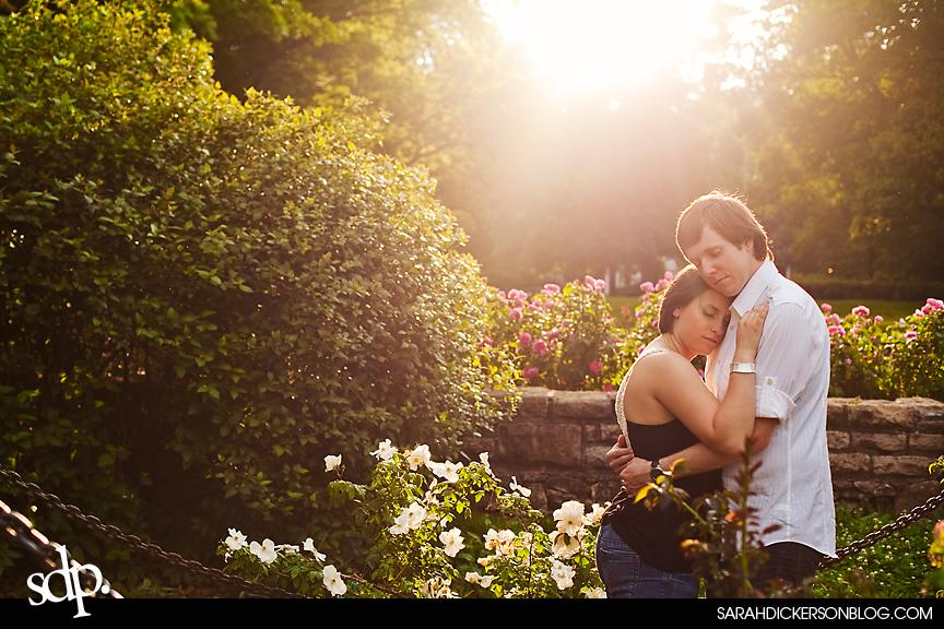 Kansas City engagement photos Loose Park