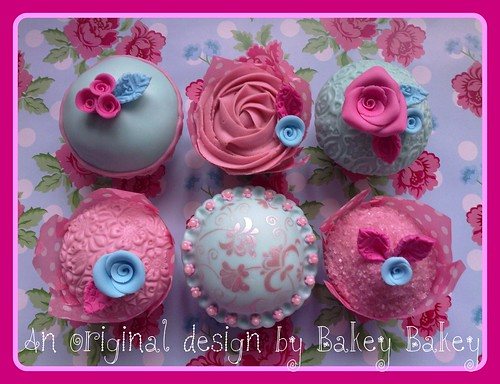 Cath Kidston cupcakes - full set by Bakey Bakey