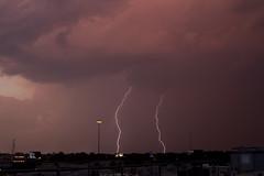 Dallas Sunset Lightning - June 5th, 2011 (mycatfredisfat) Tags: pink sunset sky sun storm weather june set clouds dallas texas purple 5 tx sunday 11 thunderstorm lightning 5th thunder jun 2011 canon7d canonlserieslens24105mmf4