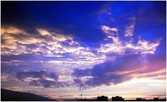 Glorious sky over Sofia (Stella VM) Tags: blue sunset sky beautiful clouds colours sofia bulgaria