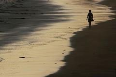 Lonely Beach Walking, Sandals in Hand (cmac66) Tags: ocean sea india beach water walking sand solitude alone quiet walk bombay mumbai versova versovabeach