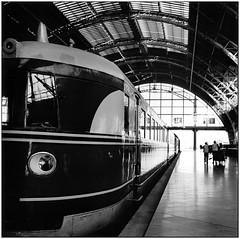 central station, leipzig Germany (RedNomis) Tags: 6x6 film station analog train germany leipzig xp2 ilfordxp2 six ilford pentaconsix czj mittelformat biometar multigrade