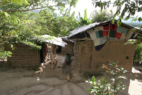 Rural mud hut in southern Colombia...