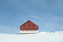 (julia_ho) Tags: blue schnee winter white snow norway norge vinter norwegen himmel blau sn bl weis kvit