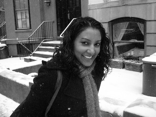 Sara in the snow!