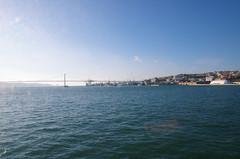 crossing the Tejo by ferry - Lisbon -