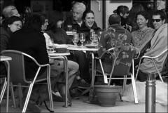 (Raymond Wealthy) Tags: life street new people blackandwhite bw espaa white black blancoynegro smile youth person persona restaurant blackwhite calle cafe mujer spain nikon women europe mood chica friendship gente emotion noiretblanc restaurante joy young streetphotography talk bn via espana vida rest sonrisa chico rue moods espagne ria pleasure hombre spanien gens descanso noirblanc streetshot blanconegro blckwhite lagente nikond80 blancoenegro raymondwealthy