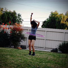 Day 16: Hoopin' (xelia.) Tags: selfportrait backyard secret hulahooping hulahoop confession 365days 11609 xelia alsoivelostsomuchweightthatifeelgreataboutwearingshorts theotherdayimanagedtogetmymomtohulahoopwithme