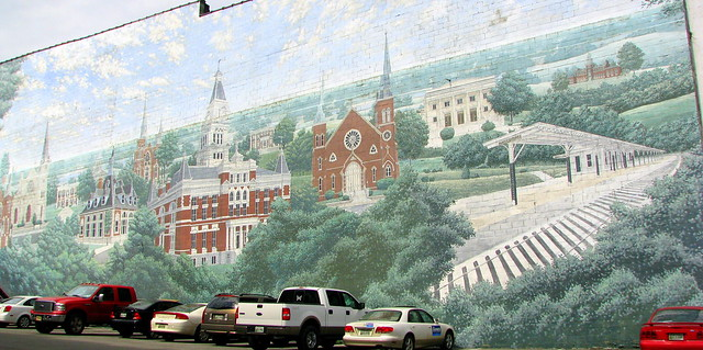 Clarksville Mural from the right