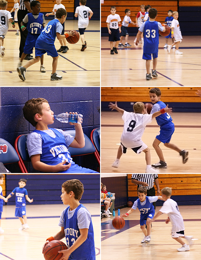 Caleb playing bball