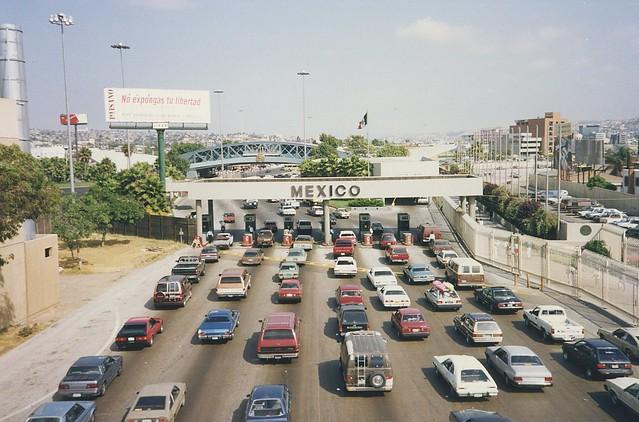 mexico crossing sandiego border 1992 tijuana